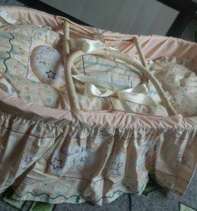 Новая корзина-переноска+матрац подушка одеяло