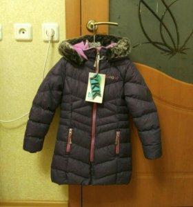 Зимнее пальто д/д на 7 лет