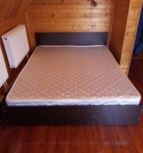 Кровать Марс 140х200 с матрасом