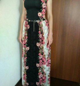 Вечернее платье стрейч- гипюр