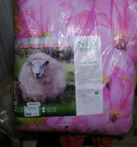Одеяло овечья шерсть (зима) евро 220х240