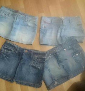Джинсовые юбки 30 размер
