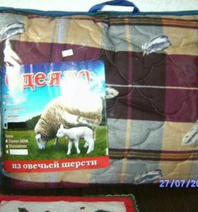 Одеяло овечья шерсть (облегченка) 2-х спалка