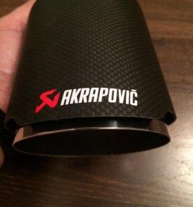 Akrapovic Carbon насадки на выхлоп Акрапович