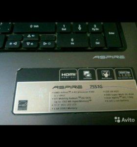 Ноутбук асер 7551G