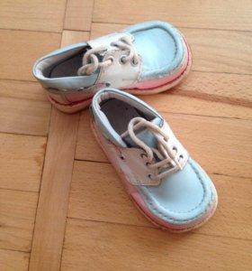 Туфли- ботинки , кожа