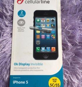 Защитная плёнка на айфон 5,5s