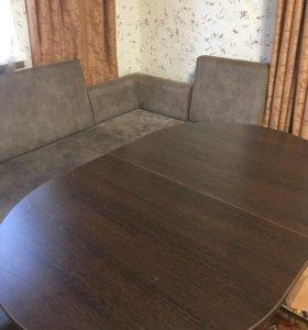 Стол кухонный с вставкой
