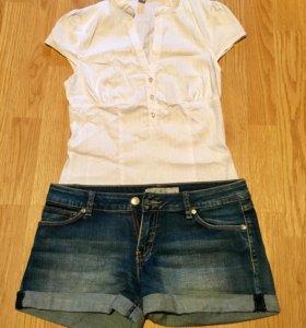 Блузка и шорты на лето