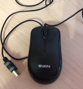 Мышь проводная SVEN RX-165 черная