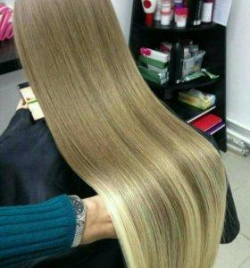 Кератиновое выпрямление волос полировка