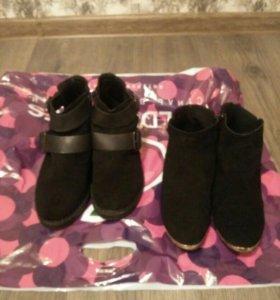 Ботинки TopShop замша натуральная