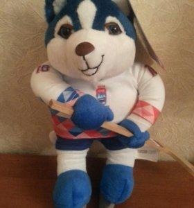 Лайка, талисман ЧМ по хоккею 2016 г. (новый)