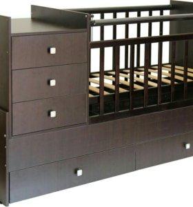 Детская кроватка + ортопедический матрас