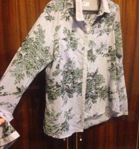 Блуза новая 44 с рисунком