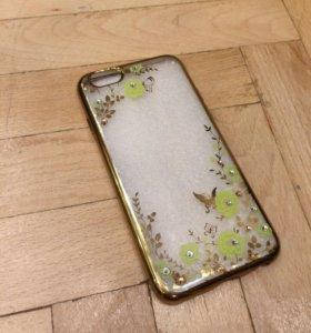 Новый силиконовый чехол со стразами на IPhone 6