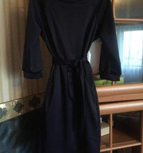 Платье Xxs темно-синее