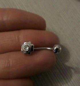 Пирсинг серебро новый