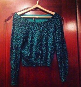 46-48 H&M кардиган, зелёная кофта 💚