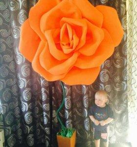 Большие ростовые цветы из фоамирана