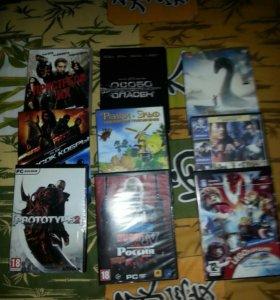 Диски игры и фильмы