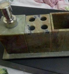 Набор для ванной комнаты из натурального камня!😻