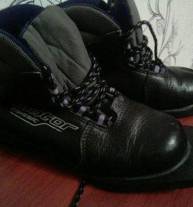 Лыжные ботинки,размер 35 или обмен на 40 разм