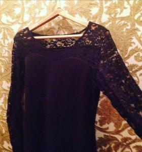 48-50 Кружевное чёрное платье