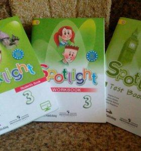 Spotlight учебник, тетрадь, тесты для 3 кл