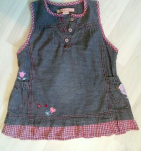 Платье джинсовое на девочку 4-5 лет