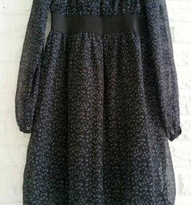 Платье тёмно-серое