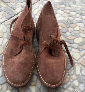 Новые ботинки натуральная замша