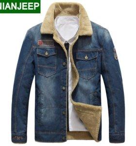 Джинсовая утеплённая куртка NIAN JEEP