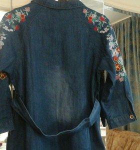 Джинсовое платье 46-48
