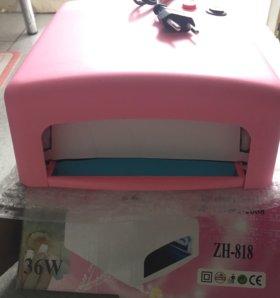 Уф лампа новая 36w розовая