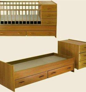 Кровать-трансформер от 0-12 лет.