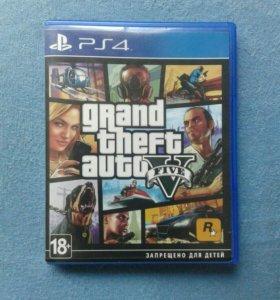Диск GTA 5 на PlayStation 4
