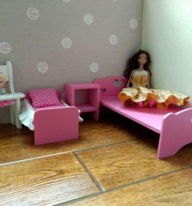 Кукольная мебель для барби. Кукольный набор.
