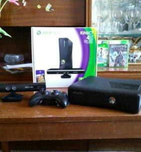 Xbox 360 S kinect + игры + прошивка lt 3.0
