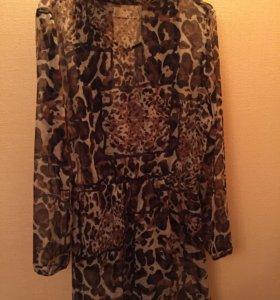 Блузка леопард шифон 42-44