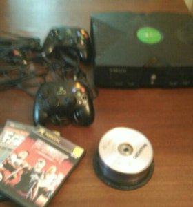Xbox original с кучей игр