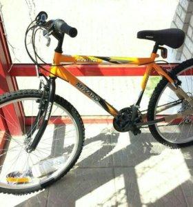 """Новый горный велосипед, 18 скоростей, рама 18"""""""