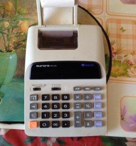 Калькулятор с двухцветной печатью