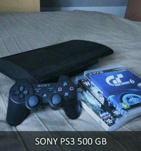 Игровая консоль Sony PS3 - 500 GB + Игры