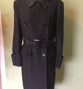 Пальто 55%коттон, 43%шерсть, 2% полиамид и эластан