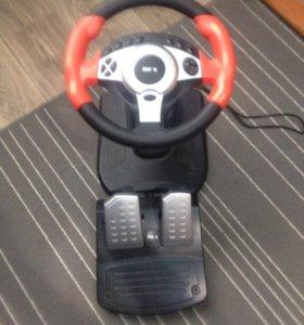 Игровой руль с педалями Dialog