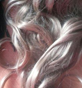 Парик и волосы на прищепках