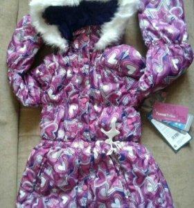 Куртка- пальтр зима Токка Трайб 122 р новая
