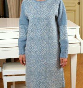 Платье вязано-валеное