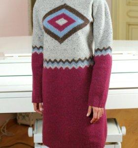 Платье вязано-валеное.